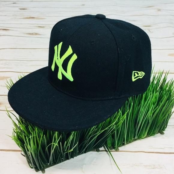 a5f32922d7741 New York Yankee Black Hat Cap Neon Insignia Fitted.  M 5afdc60545b30cdb444f12fd. Other Accessories ...